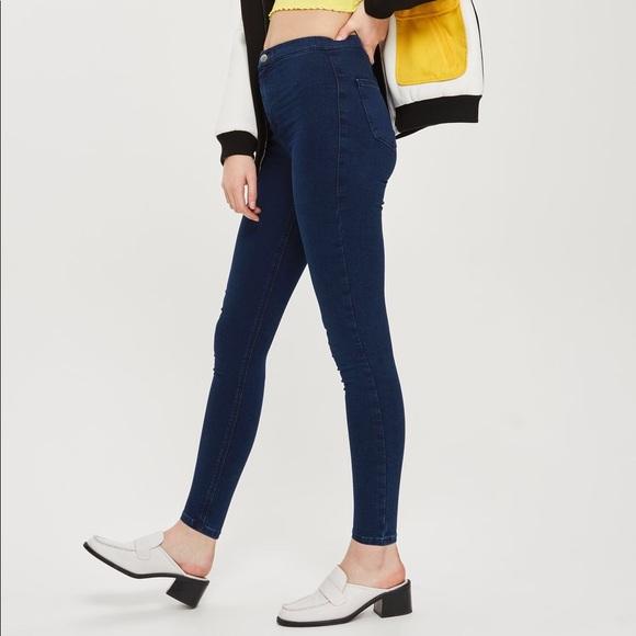 040a6a4376 Topshop Jeans   Moto Indigo Blue Joni   Poshmark